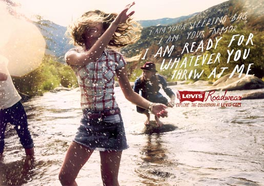 Levis Roadwear Creek print ad