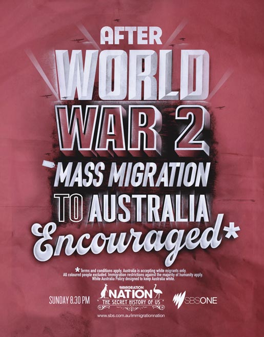 SBS Immigration Nation World War 2 print advertisement
