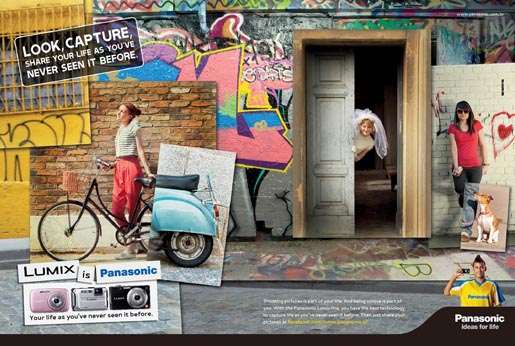 Panasonic Lumix Graffiti print advertisement