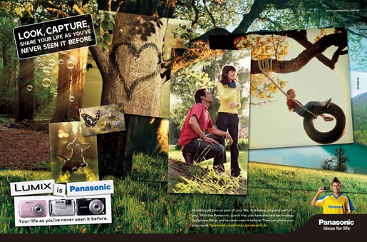 Panasonic Lumix Life print advertisement