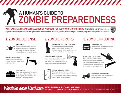 Westlake Ace Hardware Flyer for Zombies