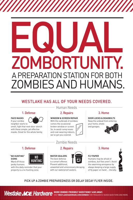 Westlake Ace Hardware Poster for Zombies