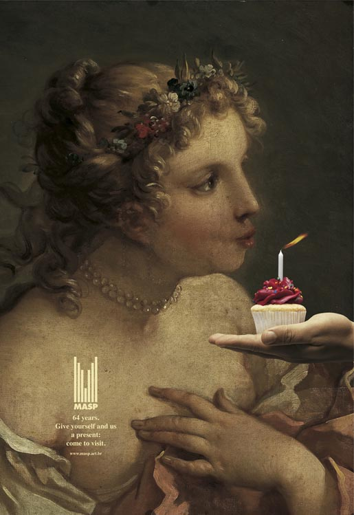 MASP birthday candle