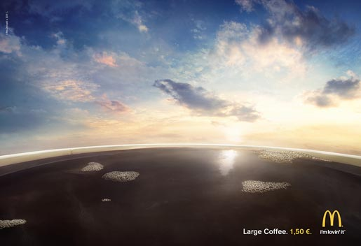 McDonald's Large Coffee print ad