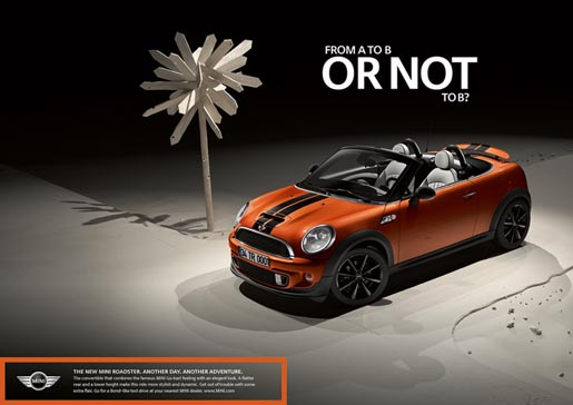Mini Roadster print ad A to B or Not to B
