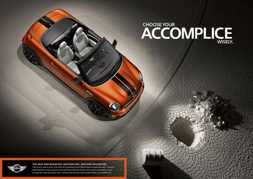 Mini Roadster print ad - Choose Your Accomplice