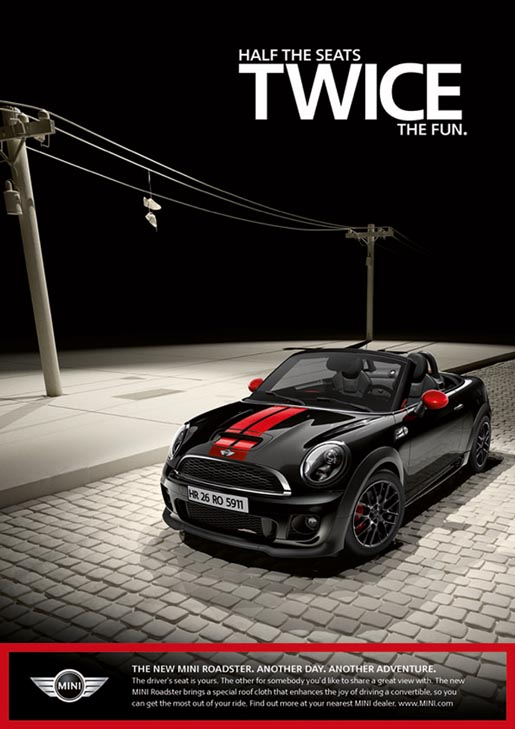 Mini Roadster print ad - Twice The Fun