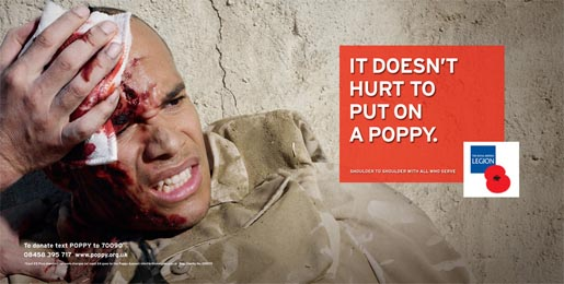 Royal British Legion Poppy Day print ad - Blood