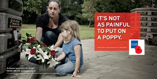 Royal British Legion Poppy Day print ad - Grave