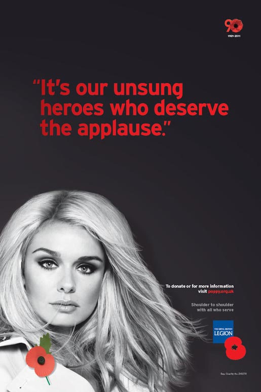 Royal British Legion Poppy Day print ad - Katherine Jenkins