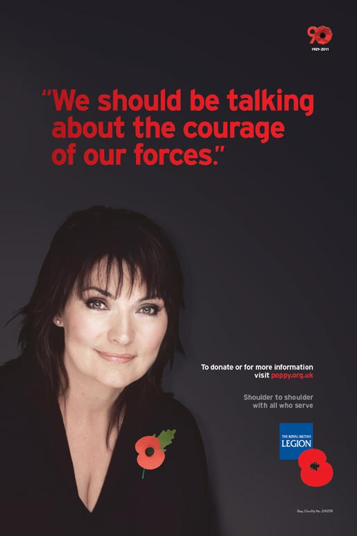 Royal British Legion Poppy Day print ad - Lorraine Kelly