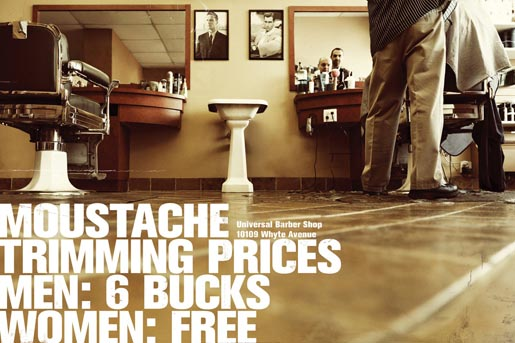 Universal Barber Shop Moustache Prices