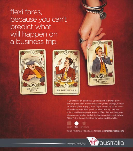 Virgin Australia Flexi Fares cards