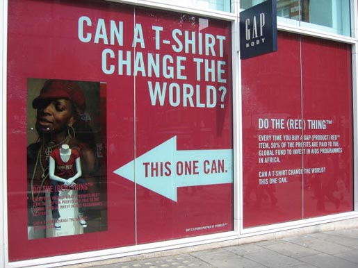 Gap Do The Red Thing - Can a T-Shirt change the world?