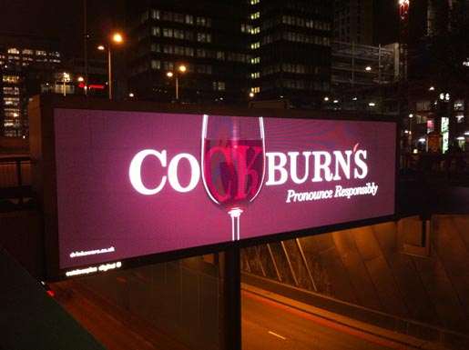 Cockburn's Port billboard