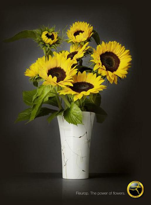 Fleurop Broken Vase Sunflowers
