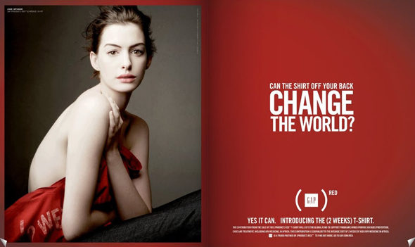 Gap Do The Red Thing - Anne Hathaway (red)