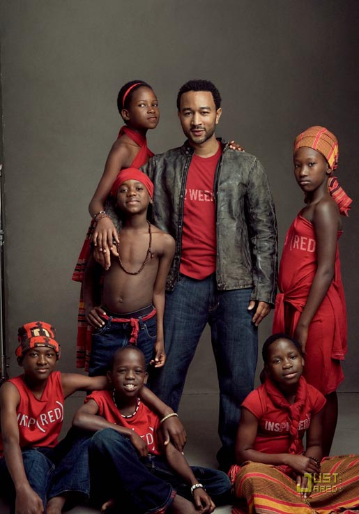 Gap Do The Red Thing - John Legend and African Childrens Choir members (red)