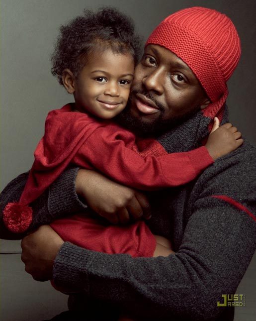 Gap Do The Red Thing - Wyclef Jean and daughter (red)