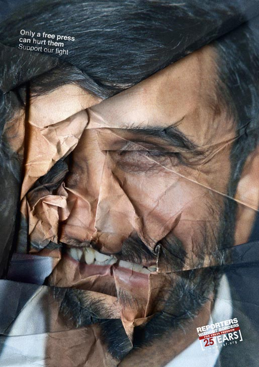 Reporters Without Border - Ahmadinejad