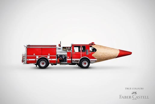 Faber Castell Fire Truck Pencil