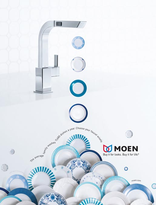 Moen Faucets print advertisement