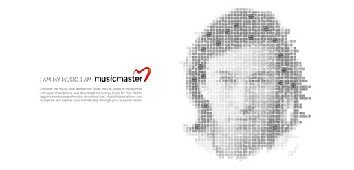 Music Master QR code advertisement