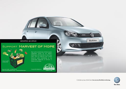 Volkswagen Bluemotion Harvest of Hope ad