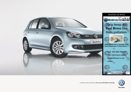 Volkswagen BlueMotion Save The Vaal ad