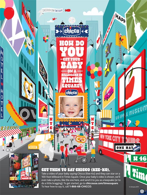 Chicco Times Square print ad
