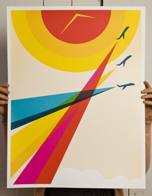 HP Flight Track Poster