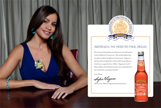 Sofia Vergara in Angostura print advertisement