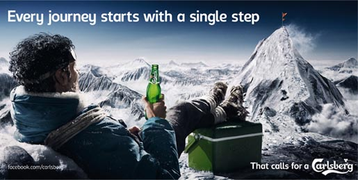 Carlsberg Everest Billboard