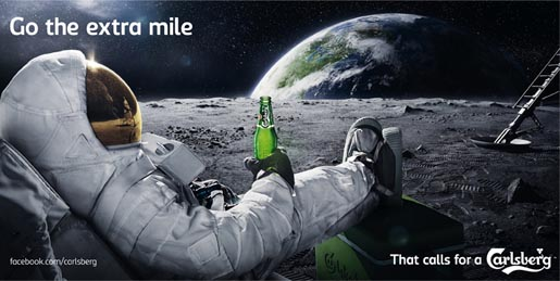 Carlsberg Moon Billboard