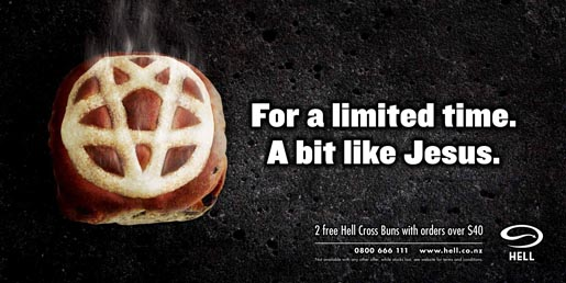 Hell Cross Bun Billboard