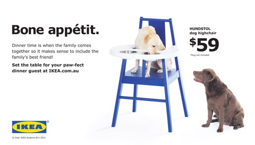 IKEA Hundstol Dog Chair Bone Appetit ad