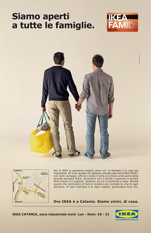 IKEA Gay Family print advertisement