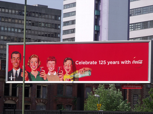 Coca Cola 125 Years Billboard
