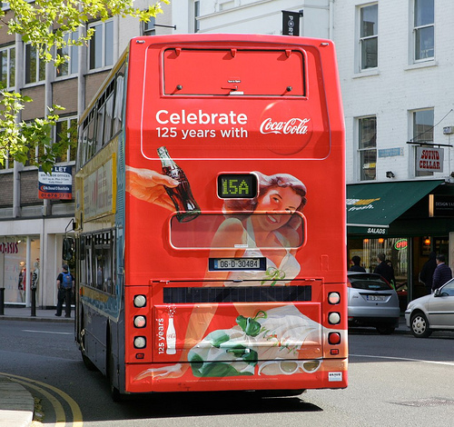 Coca Cola 125 Years Bus
