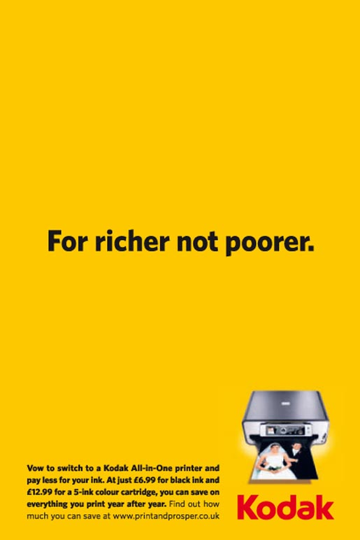 Kodak For Richer Not Poorer print ad