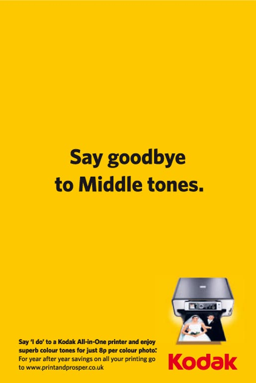 Kodak End of Middle Tones print ad