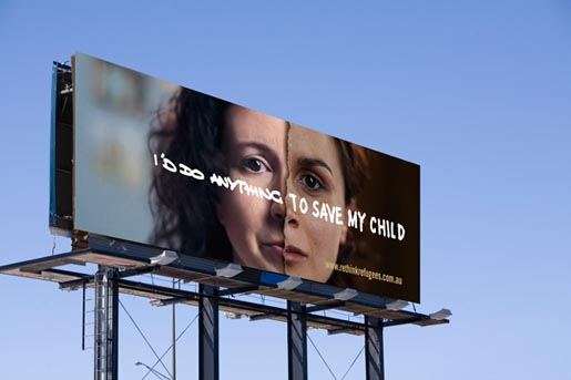 Rethink Refugees Mother Billboard