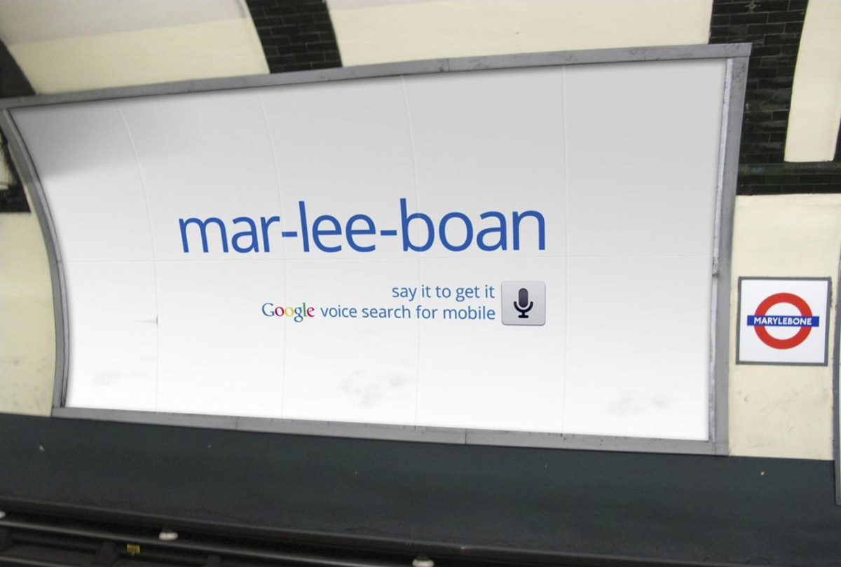 Google Voice Search Mobile App in London - The Inspiration Room