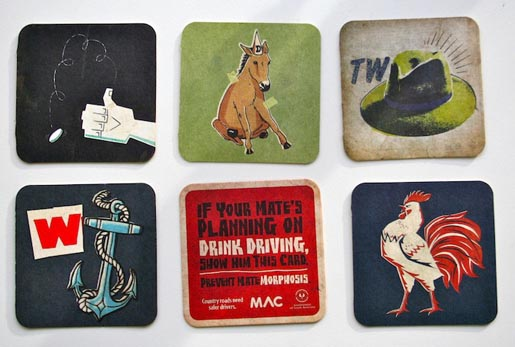 Matemorphosis beer coasters