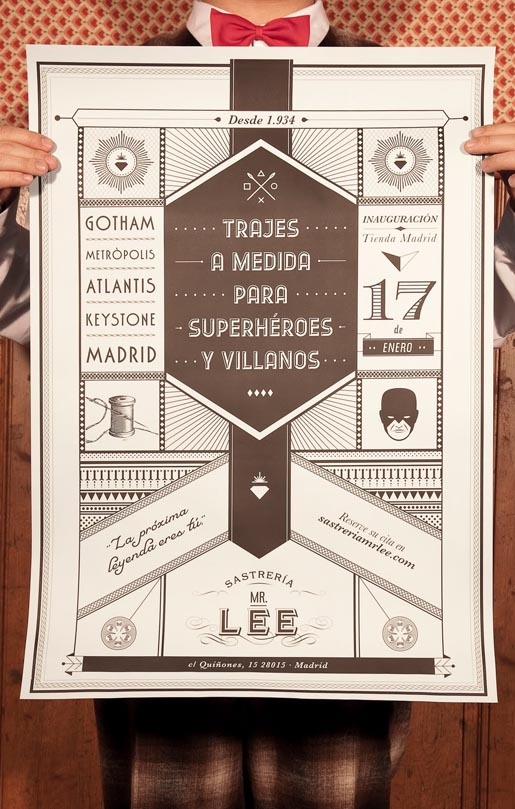 Mr Lee Tailor to Superheroes and Villains poster