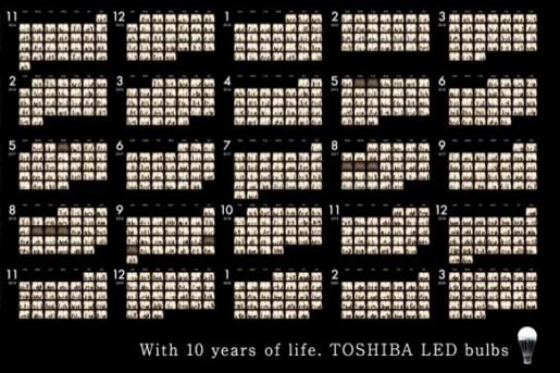 Toshiba LED with 10 years of life