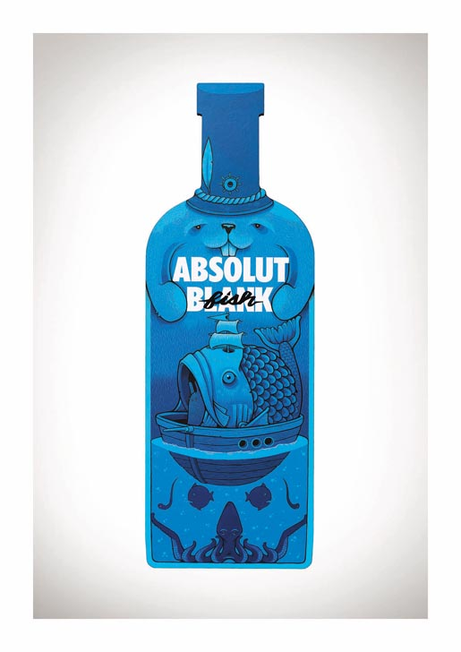Absolut Blank Fish