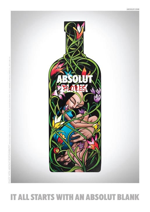 Absolut Blank Flores