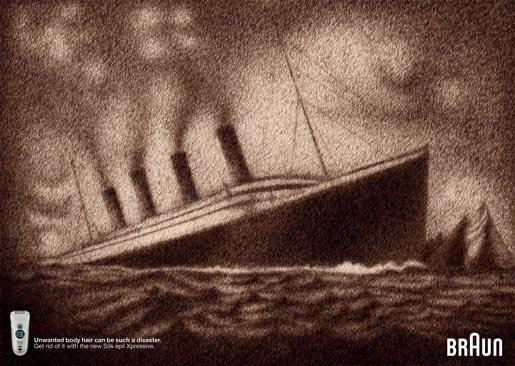 Braun Titanic Hair Disaster ad