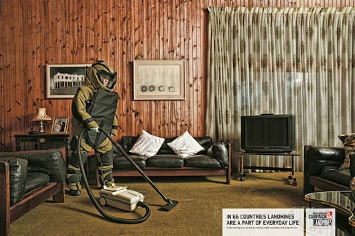 ICBL Land Mines Vacuum Cleaner
